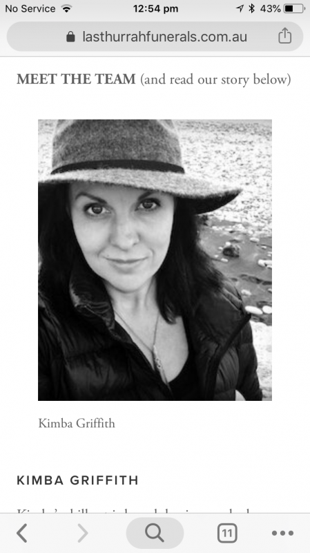 Director, ceremony co-creator and family support Kimba Griffith
